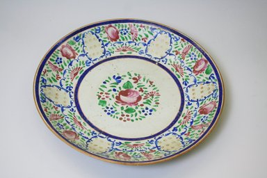 <em>Dish</em>, late 18th century. Decorated porcelain, 2 3/16 x 13 5/8 in. (5.5 x 34.6 cm). Brooklyn Museum, Gift of Mr. and Mrs. Charles K. Wilkinson, 74.102.5. Creative Commons-BY (Photo: Brooklyn Museum, CUR.74.102.5.jpg)