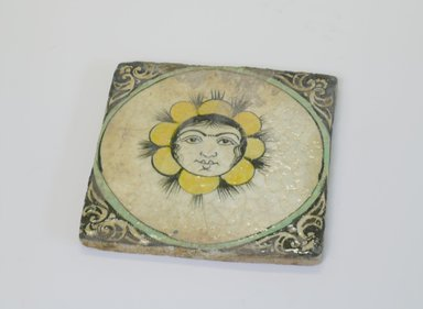 <em>Tile</em>, mid-19th century. Ceramic tile, 7 1/16 x 13/16 x 7 1/16 in. (18 x 2.1 x 18 cm). Brooklyn Museum, Gift of Mr. and Mrs. Charles K. Wilkinson, 74.49.2. Creative Commons-BY (Photo: Brooklyn Museum, CUR.74.49.2.jpg)