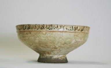 <em>Bowl, Minai-type</em>, 13th century. Ceramic, Mina'i or haft rangi ware, 3 1/8 x 6 3/8 in. (7.9 x 16.2 cm). Brooklyn Museum, Frederick Loeser Fund, 74.92. Creative Commons-BY (Photo: Brooklyn Museum, CUR.74.92_exterior.jpg)
