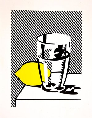 Roy Lichtenstein (American, 1923-1997). <em>Untitled (Still Life with Lemon and Glass)</em>, 1974. Lithograph, screenprint and debossing on paper, sheet: 40 1/2 x 31 7/8 in. (102.9 x 81 cm). Brooklyn Museum, Designated Purchase Fund, 75.16.6. © artist or artist's estate (Photo: Image courtesy of Estate of Roy Lichtenstein, CUR.75.16.6_Lichtenstein_Estate_3634.jpg)