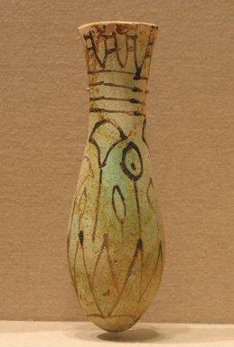 <em>Miniature Vessel</em>, ca. 1336-1250 B.C.E. Faience, 5 5/16 in. (13.5 cm). Brooklyn Museum, Charles Edwin Wilbour Fund, 75.52.1. Creative Commons-BY (Photo: Brooklyn Museum, CUR.75.52.1_wwg8.jpg)