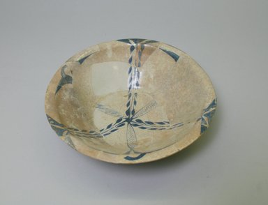 <em>Bowl</em>, 9th century. Ceramic, glaze, 2 3/8 x 8 1/4 in. (6 x 21 cm). Brooklyn Museum, Gift of Mr. and Mrs. Carl L. Selden in honor of Charles K. Wilkinson, 75.9. Creative Commons-BY (Photo: Brooklyn Museum, CUR.75.9_interior.jpg)