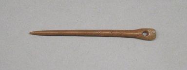 <em>Needle</em>. Bone, 5/8 x 1/8 x 4 1/2 in. (1.6 x 0.3 x 11.4 cm). Brooklyn Museum, Gift of Egizia Modiano, 76.166.18. Creative Commons-BY (Photo: Brooklyn Museum, CUR.76.166.18.jpg)