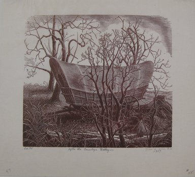 Grace Arnold Albee (American, 1890-1995). <em>After the Conestoga Valley</em>, 1957. Wood engraving on paper, Sheet: 8 1/4 x 9 in. (21 x 22.9 cm). Brooklyn Museum, Gift of the artist, 76.198.57. © artist or artist's estate (Photo: Brooklyn Museum, CUR.76.198.57.jpg)