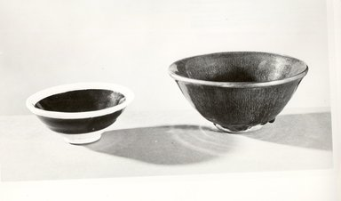 <em>Bowl</em>, 960-1279. Porcelain with glaze , 1 7/8 x 4 9/16 in. (4.8 x 11.6 cm). Brooklyn Museum, Gift of John J. Waterman in memory of his parents, Mr. and Mrs. Arthur J. Waterman, 78.149.3. Creative Commons-BY (Photo: Brooklyn Museum, CUR.78.149.3_bw.jpg)