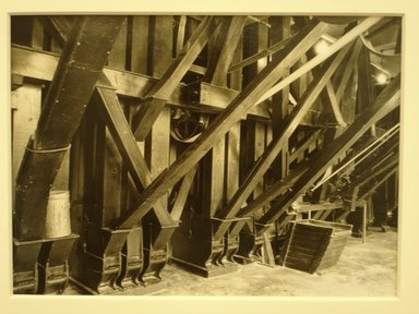 Lewis Wickes Hine (American, 1874-1940). <em>[Untitled] (Mill Interior - Belts)</em>, 1936-1937. Gelatin silver photograph, 5 x 7 in.  (12.7 x 17.8 cm). Brooklyn Museum, Gift of The National Archives, 79.143.168 (Photo: Brooklyn Museum, CUR.79.143.168.jpg)
