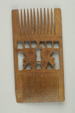 Coptic. <em>Comb</em>, 5th-7th century C.E. Wood, 2 5/8 x 1 15/16 x 5 in. (6.7 x 5 x 12.7 cm). Brooklyn Museum, Mr. and Mrs. David Liebert, 79.174. Creative Commons-BY (Photo: Brooklyn Museum (in collaboration with Index of Christian Art, Princeton University), CUR.79.174_ICA.jpg)