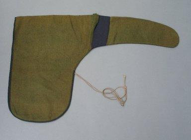 <em>Man's Hat</em>, 19th century. Wool, taffeta, 15 3/8 x 23 5/8 in. (39 x 60 cm). Brooklyn Museum, Gift of Sidney B. Cardozo, Jr., 79.178.11. Creative Commons-BY (Photo: Brooklyn Museum, CUR.79.178.11.jpg)