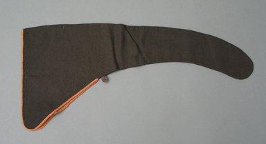 <em>Man's Hat</em>, 19th century. Wool, taffeta, 10 5/8 x 23 1/4 in. (27 x 59 cm). Brooklyn Museum, Gift of Sidney B. Cardozo, Jr., 79.178.12. Creative Commons-BY (Photo: Brooklyn Museum, CUR.79.178.12.jpg)