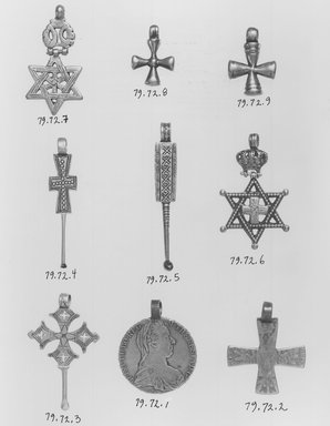 Brooklyn museum empendant cross with crown and star of davidem aloadofball
