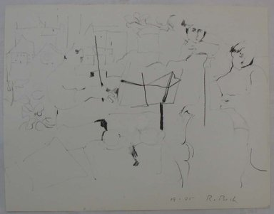 Rosemarie Beck (American, 1923-2003). <em>String Trio</em>, mid to late 20th century. Lithograph, Sheet: 9 15/16 x 12 3/4 in. (25.2 x 32.4 cm). Brooklyn Museum, Anonymous gift, 80.209.10. © artist or artist's estate (Photo: Brooklyn Museum, CUR.80.209.10.jpg)