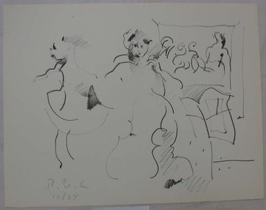 Rosemarie Beck (American, 1923-2003). <em>Duet</em>, 1984. Lithograph, Sheet: 10 x 12 3/4 in. (25.4 x 32.4 cm). Brooklyn Museum, Anonymous gift, 80.209.2. © artist or artist's estate (Photo: Brooklyn Museum, CUR.80.209.2.jpg)
