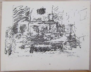 John Edward Heliker (American, 1909-2000). <em>Still-Life</em>, 1961. Lithograph, Sheet: 10 x 12 3/4 in. (25.4 x 32.4 cm). Brooklyn Museum, Anonymous gift, 80.209.55. © artist or artist's estate (Photo: Brooklyn Museum, CUR.80.209.55.jpg)