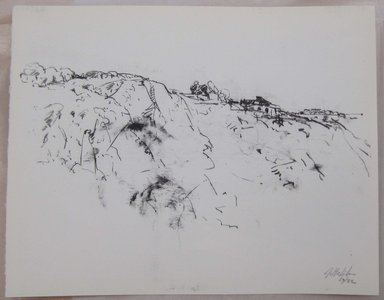 John Edward Heliker (American, 1909-2000). <em>Cliff</em>, 1961. Lithograph, Sheet: 10 x 12 5/8 in. (25.4 x 32.1 cm). Brooklyn Museum, Anonymous gift, 80.209.56. © artist or artist's estate (Photo: Brooklyn Museum, CUR.80.209.56.jpg)