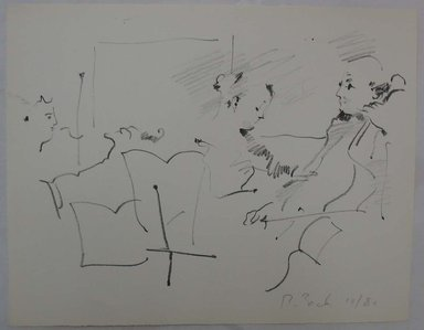 Rosemarie Beck (American, 1923-2003). <em>Trio</em>, mid to late 20th century. Lithograph, Sheet: 10 x 12 3/4 in. (25.4 x 32.4 cm). Brooklyn Museum, Anonymous gift, 80.209.6. © artist or artist's estate (Photo: Brooklyn Museum, CUR.80.209.6.jpg)