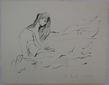 Rosemarie Beck (American, 1923-2003). <em>Woman, Profile</em>, mid to late 20th century. Lithograph, Sheet: 9 15/16 x 12 3/4 in. (25.2 x 32.4 cm). Brooklyn Museum, Anonymous gift, 80.209.8. © artist or artist's estate (Photo: Brooklyn Museum, CUR.80.209.8.jpg)