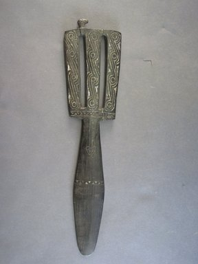<em>Lime Spatula (Kena)</em>. Wood, lime, L: 13 1/8 in. (33.3 cm). Brooklyn Museum, Gift of Mrs. Donald M. Oenslager, 80.31.8. Creative Commons-BY (Photo: Brooklyn Museum, CUR.80.31.8_overall.jpg)