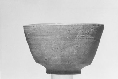 <em>Bowl</em>, 305-30 B.C.E. Clay, 3 1/4 x 5 1/4 in. (8.2 x 13.3 cm). Brooklyn Museum, Gift of the Egyptian Antiquities Organization, 80.7.4. Creative Commons-BY (Photo: Brooklyn Museum, CUR.80.7.4_NegL879_7_print_bw.jpg)