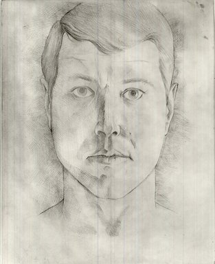 Robert Gordy (American, 1933-1986). <em>Self Portrait</em>, 1960. Silver point on paper, 11 1/2 x 9 in. (29.2 x 22.9 cm). Brooklyn Museum, Gift of the artist, 80.85. © artist or artist's estate (Photo: Brooklyn Museum, CUR.80.85.jpg)