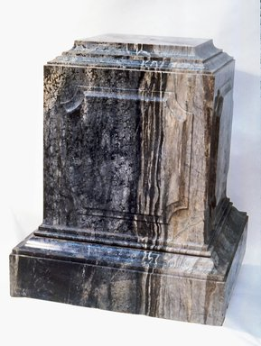 McKim, Mead & White (American, active 1872-1961). <em>Pedestal from Villard Houses</em>, ca. 1909. Vermont marble, H: 35 in. (88.9 cm). Brooklyn Museum, Gift of Harry Helmsley, 81.129. Creative Commons-BY (Photo: Brooklyn Museum, CUR.81.129.jpg)
