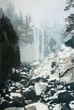 Stephen McMillan (American, born 1949). <em>Vernal Falls</em>, 1981. Aquatint etching (2 plates) on paper, sheet: 41 3/4 x 29 3/4 in. (106 x 75.6 cm). Brooklyn Museum, Gift of Katherine Lincoln Press and the artist, 81.149. © artist or artist's estate (Photo: Image courtesy of Stephen McMillan, CUR.81.149_StephenMcmillan_photograph.jpg)