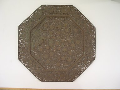 <em>Octagonal Tray</em>, 18th-early 19th century. Bronze, 1 x 17 x 16 15/16 in. (2.5 x 43.2 x 43 cm). Brooklyn Museum, Gift of David Rubin, 81.199.3. Creative Commons-BY (Photo: Brooklyn Museum, CUR.81.199.3.jpg)