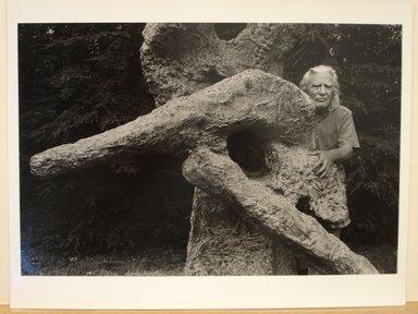 Harvey Stein (American, born 1941). <em>Reuben Nakien and Sculpture</em>. Gelatin silver photograph Brooklyn Museum, Gift of Hilda Chazanovitz, 81.70.1. © artist or artist's estate (Photo: Brooklyn Museum, CUR.81.70.1.jpg)
