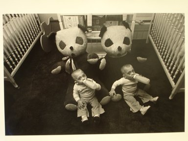 Harvey Stein (American, born 1941). <em>Twin Infants</em>. Gelatin silver photograph Brooklyn Museum, Gift of Hilda Chazanovitz, 81.70.2. © artist or artist's estate (Photo: Brooklyn Museum, CUR.81.70.2.jpg)