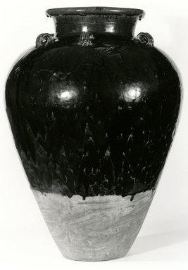 <em>Storage Jar</em>, 1368-1644. Earthenware, 27 x 19 in. (68.6 x 48.3 cm). Brooklyn Museum, Gift of Dr. Andrew Dahl, 82.118.1. Creative Commons-BY (Photo: Brooklyn Museum, CUR.82.118.1_bw.jpg)