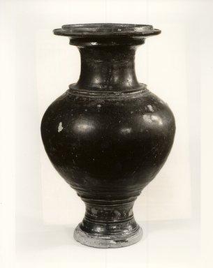 <em>Jar</em>, 12th century. Glazed stoneware, 12 5/8 x 7 3/4 in. (32.1 x 19.7 cm). Brooklyn Museum, Gift of Dr. Andrew Dahl, 82.118.4. Creative Commons-BY (Photo: Brooklyn Museum, CUR.82.118.4_bw.jpg)