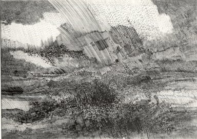 Gabor Peterdi (American, born Hungary, 1915-2001). <em>Angry Sky</em>, 1959. Etching and engraving Brooklyn Museum, Gift of Martin Greenfield, 82.144. © artist or artist's estate (Photo: Brooklyn Museum, CUR.82.144.jpg)