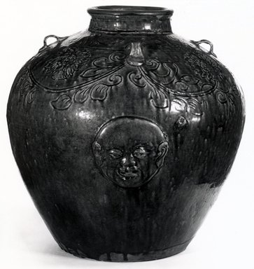 <em>Jar</em>, 1368-1644. Earthenware Brooklyn Museum, Gift of Dr. Henry J. Fischer, 82.175.20. Creative Commons-BY (Photo: Brooklyn Museum, CUR.82.175.20_bw.jpg)