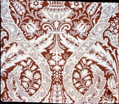 Jeffrey & Co.. <em>Wallpaper, The Cecil pattern</em>, ca. 1897. Paper, 22 1/2 x 22 1/2 in. (57.2 x 57.2 cm). Brooklyn Museum, Gift of Arlene M. and Thomas C. Ellis, 82.239.12 (Photo: Brooklyn Museum, CUR.82.239.12.jpg)