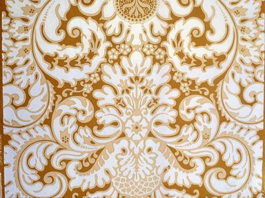Jeffrey & Co.. <em>Wallpaper</em>, ca. 1900. Paper, 21 1/4 x 22 1/4 in. (54.0 x 57.2 cm). Brooklyn Museum, Gift of Arlene M. and Thomas C. Ellis, 82.239.2 (Photo: Brooklyn Museum, CUR.82.239.2.jpg)