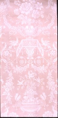 Unknown. <em>Wallpaper, The Montespan Design pattern</em>, ca. 1900. Paper, 22 3/8 x 55 1/2 in. (56.8 x 141.0 cm). Brooklyn Museum, Gift of Arlene M. and Thomas C. Ellis, 82.239.20 (Photo: Brooklyn Museum, CUR.82.239.20.jpg)