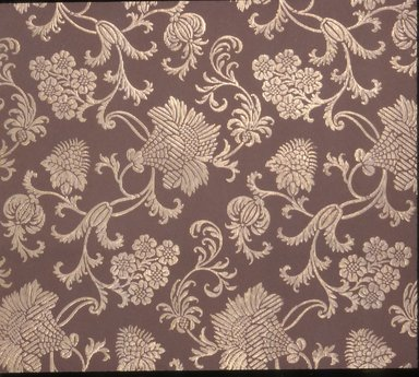 Jeffrey & Co.. <em>Wallpaper</em>, ca. 1900. Paper, 21 1/4 x 22 1/2 in. (54.0 x 57.2 cm). Brooklyn Museum, Gift of Arlene M. and Thomas C. Ellis, 82.239.28 (Photo: Brooklyn Museum, CUR.82.239.28.jpg)