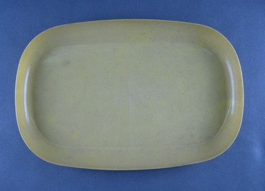Russel Wright (American, 1904-1976). <em>Miniature Platter, Idealware Pattern</em>, 1955-1962. Molded polyethylene plastic, 1 x 6 9/16 x 10 1/16 in. (2.5 x 16.7 x 25.6 cm). Brooklyn Museum, Gift of Paul F. Walter, 83.108.111. Creative Commons-BY (Photo: Brooklyn Museum, CUR.83.108.111.jpg)