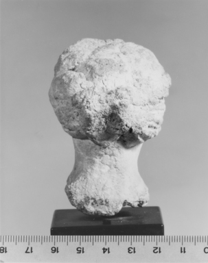 <em>Head of Aphrodite</em>, 332-30 B.C.E. Plaster, 2 5/8 x 1 15/16 x 2 3/16 in. (6.6 x 5 x 5.6 cm). Brooklyn Museum, Gift of the Estate of Fenwick W. Wall, 83.28. Creative Commons-BY (Photo: Brooklyn Museum, CUR.83.28_NegC_print_bw.jpg)