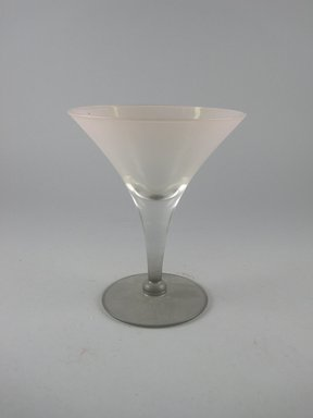 Dorothy C. Thorpe (American, 1901-1989). <em>Stem Glass</em>, ca. 1940. Mold blown glass, height: 5 1/16 in. (12.8 cm). Brooklyn Museum, Gift of Paul F. Walter, 84.124.11. Creative Commons-BY (Photo: Brooklyn Museum, CUR.84.124.11.jpg)