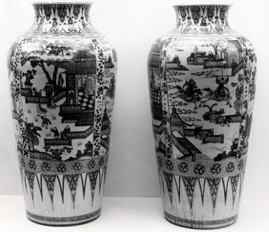 <em>Monumental Vase, One of Pair</em>. Porcelain, 37 x 18 1/2 in. (94 x 47 cm). Brooklyn Museum, Gift of Dr. Ralph C. Marcove, 84.198.2. Creative Commons-BY (Photo: , CUR.84.198.1_84.198.2_bw.jpg)