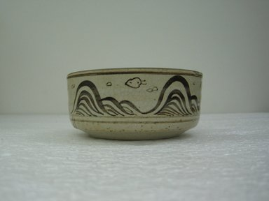 <em>Seto Ware Mukozuke (Side Dish)</em>, 20th century. Buff stoneware, 2 1/4 x 5 in. (5.7 x 12.7 cm). Brooklyn Museum, Gift of Dr. Kenneth Rosenbaum, 84.203.15. Creative Commons-BY (Photo: Brooklyn Museum, CUR.84.203.15_side.jpg)
