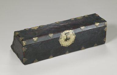 <em>Document Box</em>, 17th-18th century. Wood, leather, lacquer, 5 x 7 x 17 1/4 in. (12.7 x 17.8 x 43.8 cm). Brooklyn Museum, Gift of Robert S. Anderson, 84.244.10. Creative Commons-BY (Photo: Brooklyn Museum (in collaboration with National Research Institute of Cultural Heritage, , CUR.84.244.10_front_Collins_photo_NRICH.jpg)