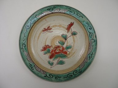 <em>Kutani Dish</em>, 19th century. Porcelain, 1 1/8 x 7 1/8 in. (2.9 x 18.1 cm). Brooklyn Museum, Gift of Mr. and Mrs. David Goldschild, 84.249.2. Creative Commons-BY (Photo: Brooklyn Museum, CUR.84.249.2.jpg)