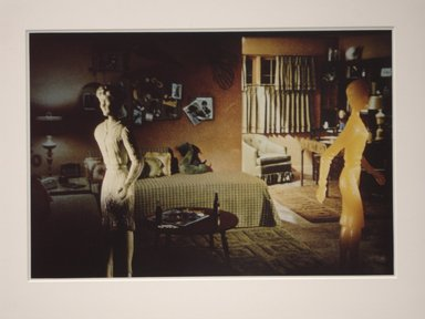 Laurie Simmons (American, born 1949). <em>Yellow and Green Teen Room</em>, 1983. Chromogenic photograph, 13 x 19 1/2 in. (33 x 49.5 cm). Brooklyn Museum, Carll H. de Silver Fund, 84.26.5. © artist or artist's estate (Photo: Brooklyn Museum, CUR.84.26.5.jpg)