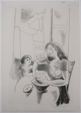 Marguerite Thompson Zorach (American, 1887-1968). <em>Grapefruit</em>, ca. 1927. lithograph, Sheet: 16 x 11 3/8 in. (40.6 x 28.9 cm). Brooklyn Museum, Gift of the collection of the Zorach children, 84.45.8. © artist or artist's estate (Photo: Brooklyn Museum, CUR.84.45.8.jpg)
