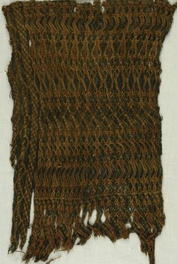 <em>Knotted Fragment</em>, 9th century C.E. Wool, 13 1/8 x 8 1/2 in. (33.4 x 21.6 cm). Brooklyn Museum, Gift of Philip Gould, 85.165.1. Creative Commons-BY (Photo: Brooklyn Museum (in collaboration with Index of Christian Art, Princeton University), CUR.85.165.1_ICA.jpg)