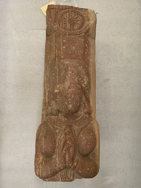 <em>Section of a Pillar</em>, 1st century C.E. Red sandstone, 17 x 6 x 6 in. (43.2 x 15.2 x 15.2 cm). Brooklyn Museum, Gift of Mr. and Mrs. Louis Stoler, 85.284. Creative Commons-BY (Photo: Brooklyn Museum, CUR.85.284_main.jpg)