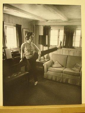Philippe Halsman (American, born Latvia, 1906-1979). <em>Joanne Woodward</em>, 1963. Gelatin silver photograph Brooklyn Museum, Gift of Dr. and Mrs. Arthur E. Kahn, 85.294.1. © artist or artist's estate (Photo: Brooklyn Museum, CUR.85.294.1.jpg)