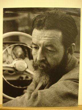 Philippe Halsman (American, born Latvia, 1906-1979). <em>Randall Jarrell (Looking Down)</em>, 1958. Gelatin silver photograph Brooklyn Museum, Gift of Dr. and Mrs. Arthur E. Kahn, 85.294.11. © artist or artist's estate (Photo: Brooklyn Museum, CUR.85.294.11.jpg)