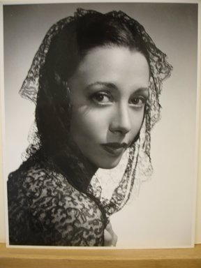 Philippe Halsman (American, born Latvia, 1906-1979). <em>[Untitled]  (Brunette Woman Wearing Black Lace Shawl on Head and Shoulders)</em>, 1944. Gelatin silver photograph Brooklyn Museum, Gift of Dr. and Mrs. Arthur E. Kahn, 85.294.18. © artist or artist's estate (Photo: Brooklyn Museum, CUR.85.294.18.jpg)